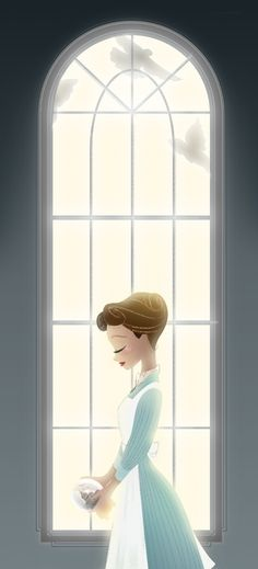 Disney Animation Art: Lovely Simple Mary Poppins.