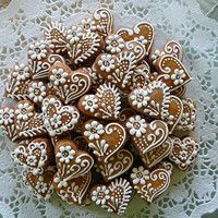 Christmas Food Gifts, Christmas Gingerbread, Christmas Desserts, Christmas Baking, Gingerbread Cookies, Christmas Cookies, Honey Cookies, Iced Cookies, Cookies Et Biscuits