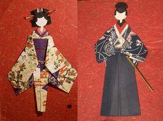 parejaocha Origami Cards, Origami Paper Art, Origami Fish, Japanese Origami, Japanese Paper, Washi, Asian Cards, Origami Diagrams, Japan Crafts