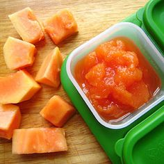 How to Make Fruit Purees for Babies: Papaya Puree (via Parents.com)