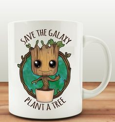 Guardians of the Galaxy Save the Galaxy Plant a Tree Baby Groot Coffee Mug.
