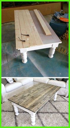 25 Most Creative DIY Furniture Refinements - Farmhouse Coffee Table Makeover # Furniture # ., 25 Most Creative DIY Furniture Refinements - Farmhouse Coffee Table Makeover # Furniture - Coffee Table Makeover, Diy Coffee Table, Kitchen Table Makeover, Painted Coffee Tables, Diy Table Top, Refurbished Coffee Tables, Side Table Makeover, Coffee Table Upcycle Ideas, Coffee Table Refinish