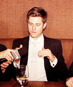 """I can clap with one hand"" - Aaron Tveit."