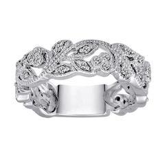 10k White Gold White Diamond Ring (.25 cttw, H-I Color, I1-I2 Clarity)