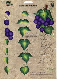 Grape-Vine-RTG-Reusable-Teaching-Guide-Donna-Dewberry-1121-One-Stroke