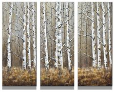 Up North on Barn Wood x 3 Barn Wood, Original Art, The Originals, Collection