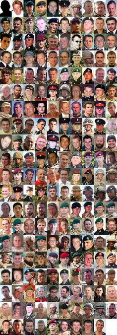 Service personnel killed in Afghanistan, God Bless Our fallen heros