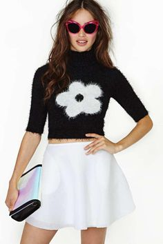 Motel Veronica Daisy Crop Sweater