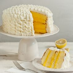 Lemon Chiffon Cake from Apron of Grace -