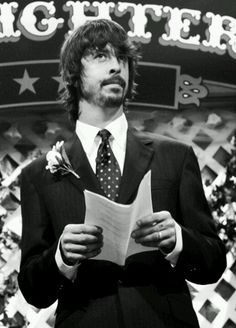 Dave Grohl of Foo Fighters. I have unreasonably big crush on him with no end insight.