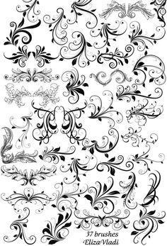 Stylish swirls