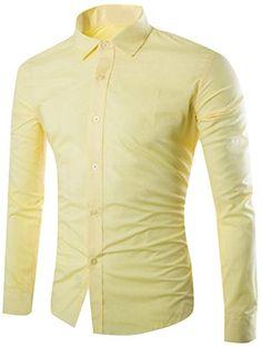 Overmal Personality Mens Summer Casual Slim Long Sleeve Printed Shirt Top Blouse