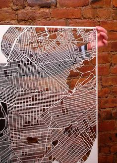 Karen O'Leary Papercut Maps