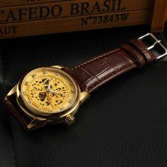 fashion western custom t winner leather strap men watch and 2016 buy skeleton watch luxury brands best automatic self winding watches for men online