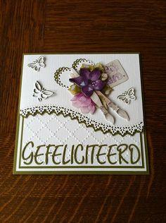 Voorbeeldkaart - Gefeliciteerd - Categorie: Scrapkaarten - Hobbyjournaal uw hobby website