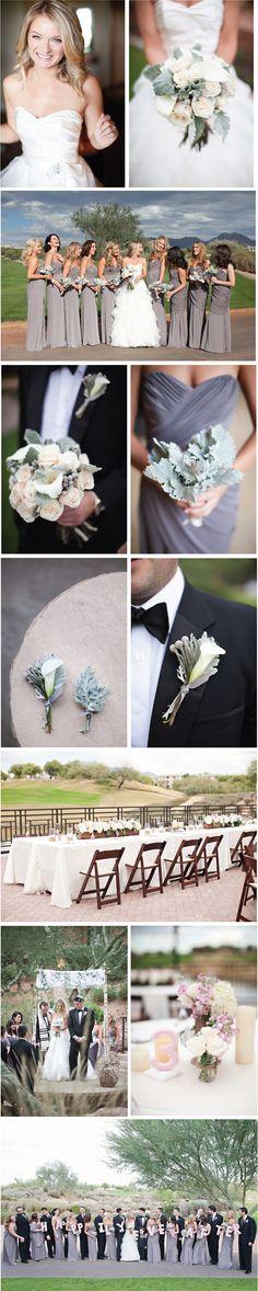 "Gray, white and pink wedding ""camelback flowershop"" ""phoenix wedding florist"" ""scottsdale wedding florist"" ""dusty miller bouquet"" ""cala lily bouquet"" ""bridal bouquet"" ""cala lily boutonniere"" ""gray white bridal bouquet"" ""scottsdale wedding"""