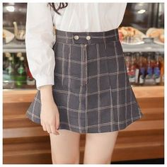 Buy 'Mossivi – Check A-Line Skirt' with Free International Shipping at YesStyle.com. Browse and shop for thousands of Asian fashion items from China and more!