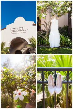 Santa Barbara Fess Parker Resort Wedding - Bride Gown and Shoes Details  Boutique Destination Love & Wedding Photography by Paul & Jewel Studios