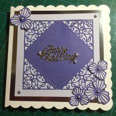 Ladies birthday card in purple