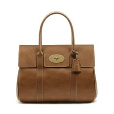 Mulberry Classics for Her - Bayswater in Oak Natural Leather With Brass