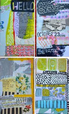 Do you, viewer, REALIZE how UNIQUE her journals are? Completely original ideas. I'm wild about Mary Ann Moss. Mossjournal2