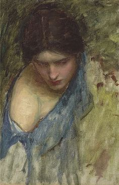 john william waterhouse - sketch of a nymph