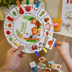 Feed me - new printable educational game for little ones. Just print, cut and play.