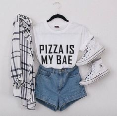 Imagen de fashion, outfit, and pizza