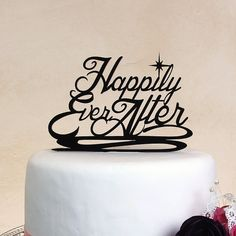 Wedding Cake Topper Happily Ever After in by DistinctlyInspired