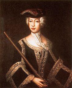 ca. 1758 Maria Antonia of Fürstenberg, daughter of Josef Friedrich of Hohenzollern-Hechingen by Franz Josef Weiss