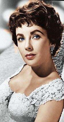 Liz Taylor with short hair