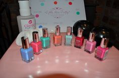 One of our girly nail varnish collections. The girls love the nail dryers