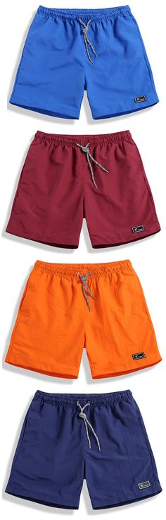 free shipped.Mens Summer Quick-drying Solid Color Casual Beach Shorts Sport Shorts