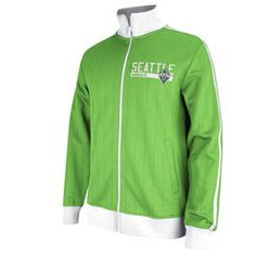 Mens Seattle Sounders FC adidas White/Green Track Jacket