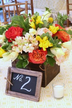centrepieces- I would change the flower colours....