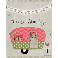 Simple Camper Canvas Art - Katie Doucette (24 x 30)