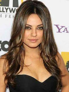 Trouble Celebrity: Long Brunette Hair Styles