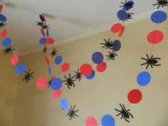 Spiderman Garland Spider-Man bandera por anyoccasionbanners