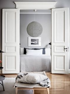 A grey Gothenburg apartment styled for spring | These Four Walls blog
