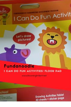 Toddlers and Preschoolers will love this Fundanoodle I Can Do FUn Activities Floor Pad, while learning and developing and improving their motor skills. http://www.myfundanoodle.com/226