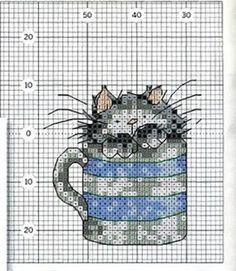 Gatinhos em caneca de chá