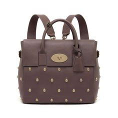 Cara Delevingne Bag With Lion Rivets in Taupe Nappa | Cara Delevingne Pre Order | Mulberry