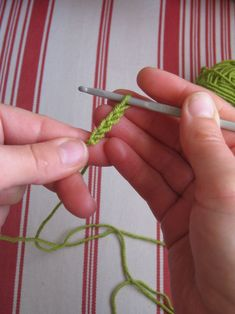 Fairly basic step-by-step on how to crochet.