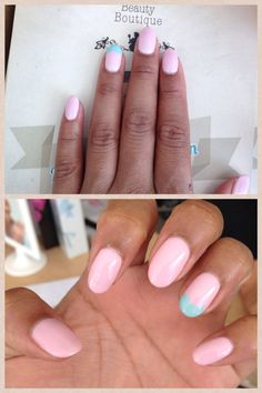Oooi baby pink ❤️ love Beauty Boutique they always jazz my nails up!!