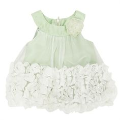 Bonnie Baby Infant Girl Mesh and Rosette Dress