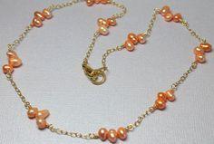 Freshwater Pearl Choker Freshwater Pearl Necklace by CaveGemstones, $52.00 #pearl #choker #freshwater pearl