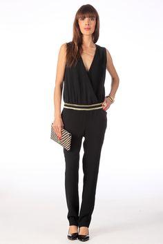Combi-pantalon Edgard Noir/Doré Ba sur MonShowroom.com