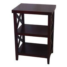 Wood X-Side Shelf