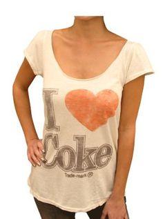I Love Coke @ http://www.junkfoodclothing.com  #coke  $16