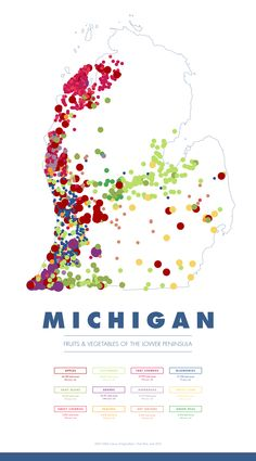 [Infographic] Michigan; Fruits and Vegetable of The Lower Peninsula